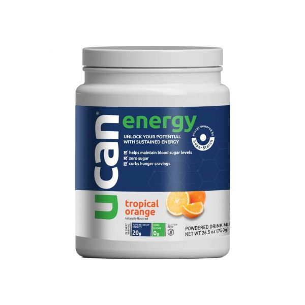 UCAN Tropical Orange Energy Powder Tub