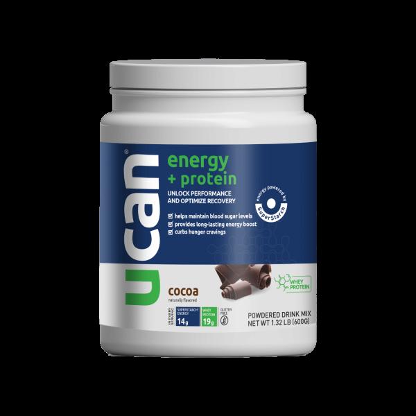 UCAN Cocoa Energy + Protein Powder Tub
